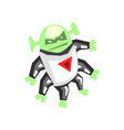 allien angry monster with six legs character vector image