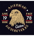 American Eagle Motorcycle Emblem vector image vector image
