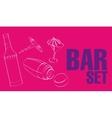 Bar Restaurant Theme vector image vector image