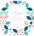 beautiful floral frame or floral wreath border vector image vector image