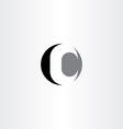 c letter circle black icon logo vector image