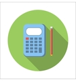 Calculator flat icon vector image vector image