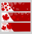canada day banner design with copy space vector image vector image