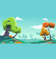 cartoon landscape background countryside with vector image