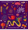 Chinese New Year elements vector image