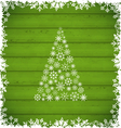 Christmas pine and border made of snowflakes on vector image vector image