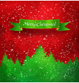 christmas red and green background vector image vector image