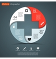 circle diagram infographic for business vector image vector image