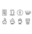 coffee vending teacup and bombon coffee icons vector image