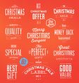 Collection of Typographic Christmas Sale Labels vector image vector image