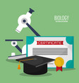 collection science biology icons vector image vector image
