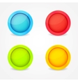 color glossy buttons vector image