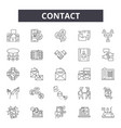 contact line icons signs set outline vector image vector image