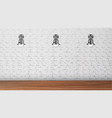 design black sconces on white brick wall vector image