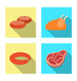 design of meat and ham sign collection of vector image