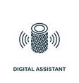 digital assistant outline icon creative design vector image