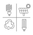 eco icons set thin line ecological signs for vector image
