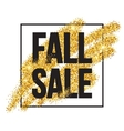 Fall Sale promo label Golden glitter template for vector image vector image