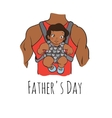 fathers day card cartoon vector image vector image