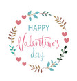 february 14th valentines day vintage lettering vector image vector image