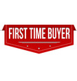 first time buyer banner design vector image vector image