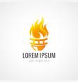 flame logo vector image vector image