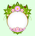 floral spring decoration vector image vector image