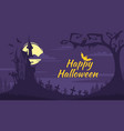 halloween background with old castle vector image vector image