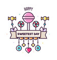 happy sweetest day of ice vector image vector image