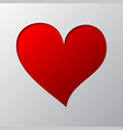 heart cut from paper vector image