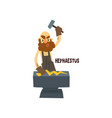 hephaestus olympian greek god ancient greece vector image vector image