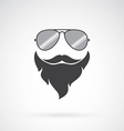 image an sunglasses and mustache and beard vector image