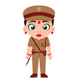 indian lady police inspector characters vector image vector image