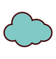 line color natural cloud in sky to weather design vector image vector image