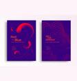 liquid poster design template in duotone gradients vector image vector image