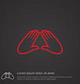 massage outline symbol red on dark background logo vector image vector image