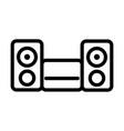 music system equipment speaker sound line style vector image