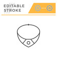 necklace editable stroke line icon vector image vector image