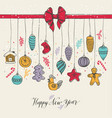new year s toys hand drawn style vector image vector image