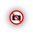 no photo camera sign icon digital photo camera vector image