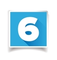 Number six label or number icon vector image vector image