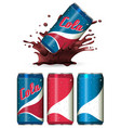 package design for cola drinks vector image