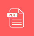 pdf download icon simple flat pictogram for vector image vector image