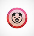 pig circle pink triangle background icon vector image vector image