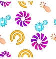 Pointer cursor pattern cartoon style vector image vector image