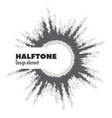 pop art halftone logo circle design vector image vector image