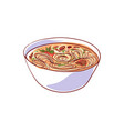 ramen soup isolated icon vector image vector image