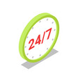 round the clock trading isometric 3d icon vector image vector image