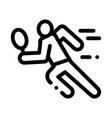 run tennis player icon outline vector image vector image