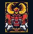 samurai demon warrior mascot vector image vector image